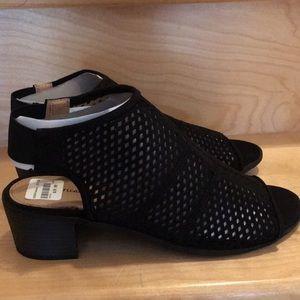 American Eagle Vida Black Open Toe Sandal Heel 8.5